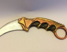 3d printable model karambit fixed