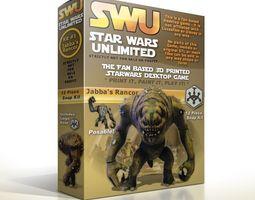 swu kit 1 - jabba s rancor posable figure 3d printable model