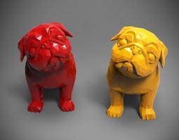Polygon Pug 3D printable model