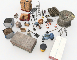 3D asset Construction Supply Pack