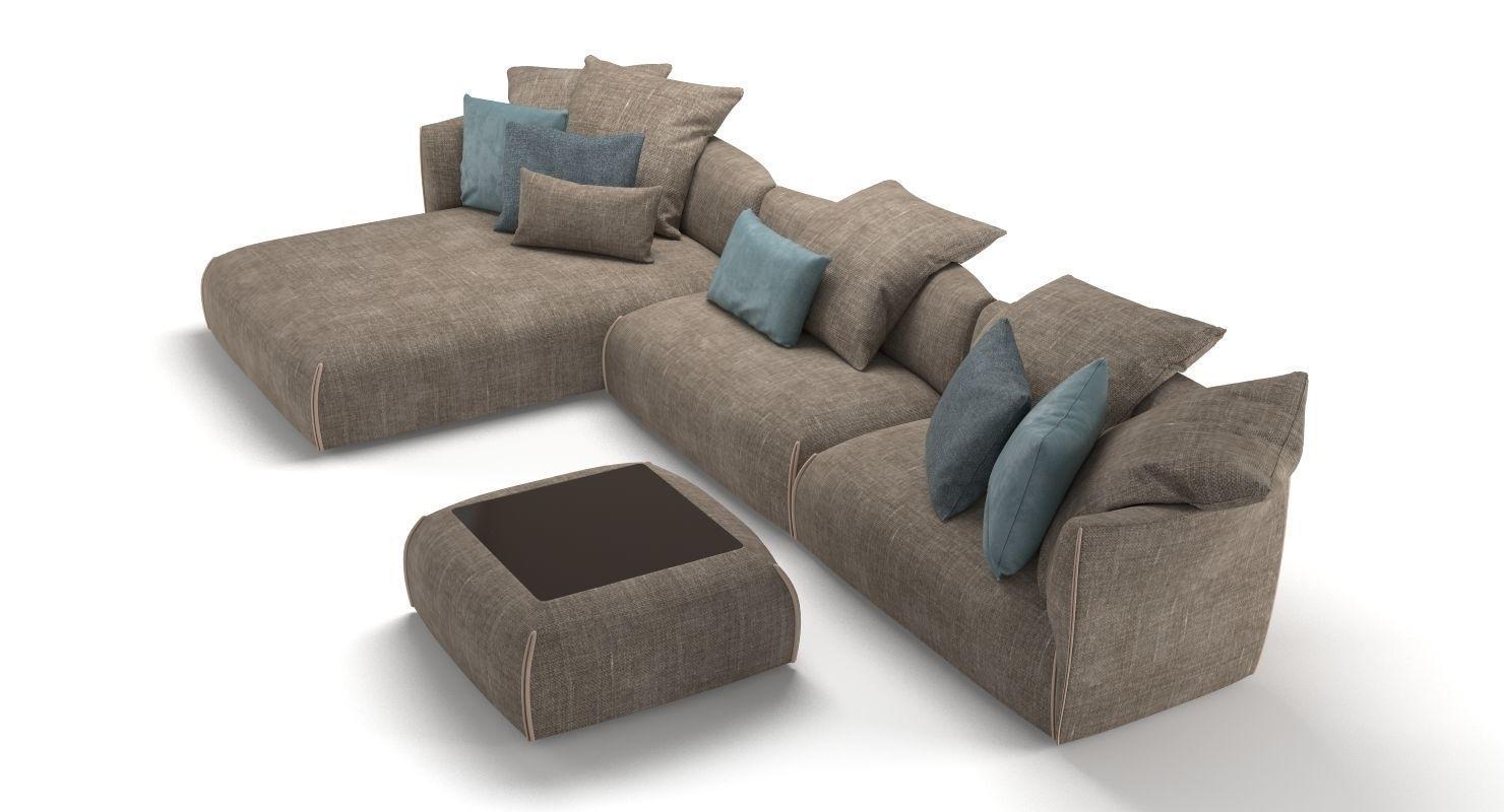 Jori Gitano Sofa 3D model | CGTrader