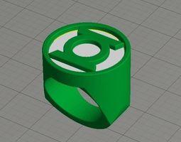 3D print model Dual Extrusion Green Lantern Ring
