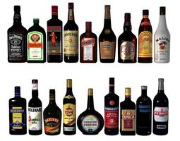 3D model Alcohol bottles alcohol