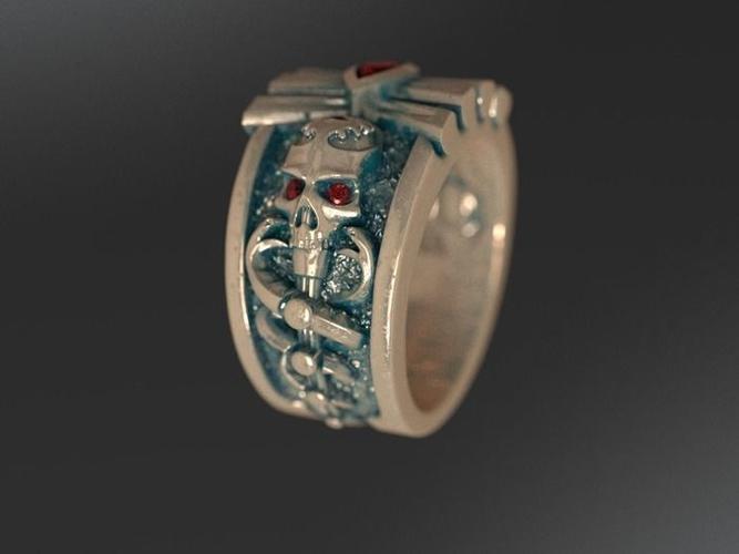 ring skull snake 3d model stl 3dm 1