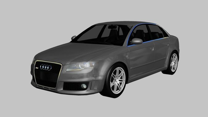 3d model 2006 audi rs4 cgtrader. Black Bedroom Furniture Sets. Home Design Ideas