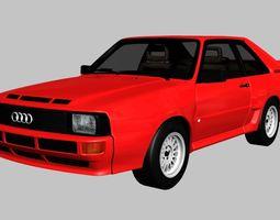 Audi Sport quattro 1983 3D asset