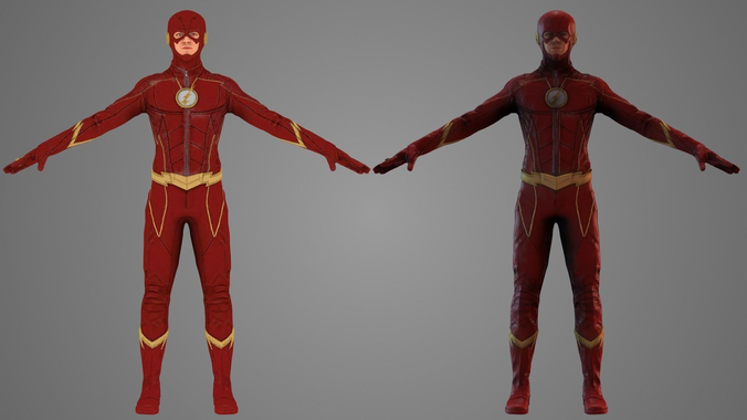 the flash tv show 3d model low-poly rigged animated obj fbx c4d mtl 1