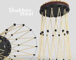 Shukhov stool 3D