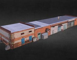 Garage Low Poly 3D asset