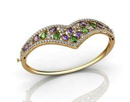 3D print model Multi Color Jadeite Jade Jewelry Bangle