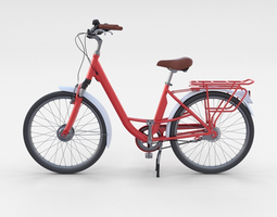 City Bicycle Red 3D