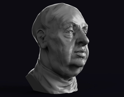3D print model Alfred Hitchcock Portrait