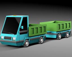 Cartoon electric car v3 3D model