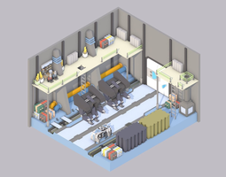 3D model Sci-Fi Room