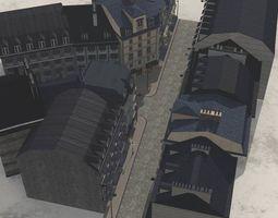 European Street in obj and fbx format 3D