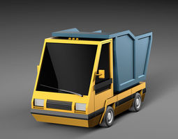 3D model Cartoon electric car v4