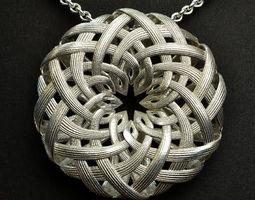 3D printable model Lotus Pendant
