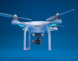 quadrocopter drone high detailed 3D model