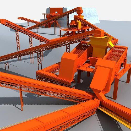 Mining Machinery 3d Model Cgtrader