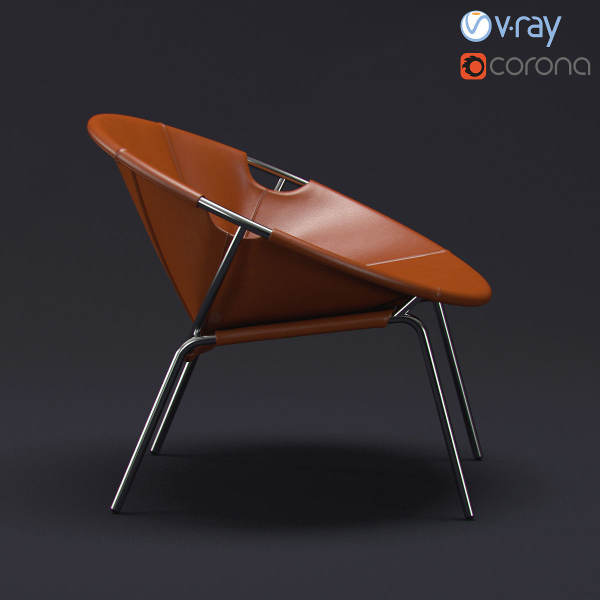 Dries Leather Sling Chair 3d Model Max Obj Fbx Mtl 4