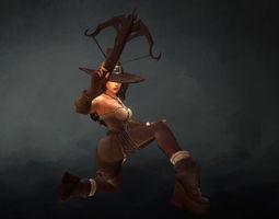 Low poly Demon Hunter 3D model