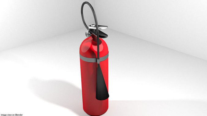 fire extinguisher - type 1 3d model obj mtl 3ds lwo lw lws stl blend dae 1
