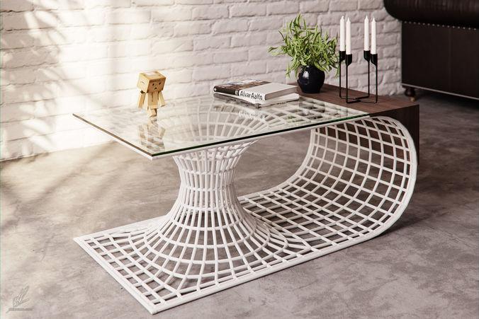 wormhole table 3d model max obj fbx mtl 1