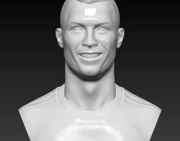 Cristiano Ronaldo -Real Madrid- player bust 3D High