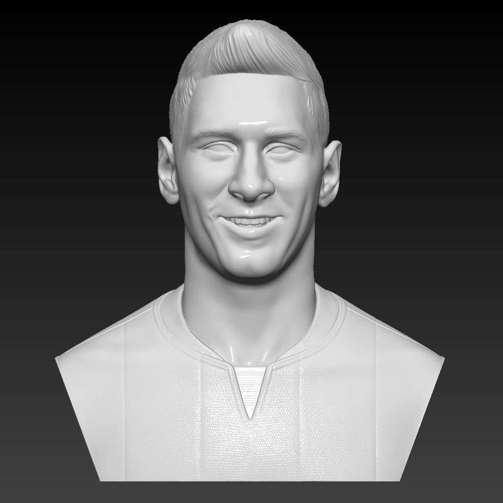 Lionel Messi - FC Barcelona - player bust 3D high resolution