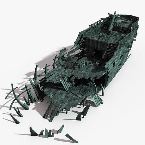 shipwreck 03 3d model max obj mtl fbx tga 1