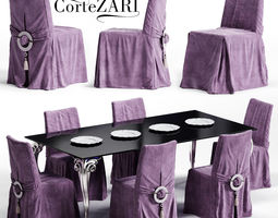 3D model Corte ZARI KARIS Chair and ANTARES Table