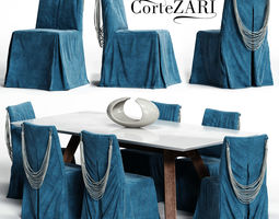 3D Corte ZARI KARIS Chair and SOHO Table