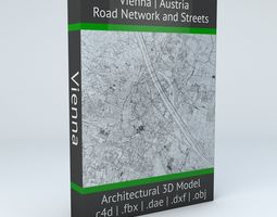 3D Vienna Road Network and Streets