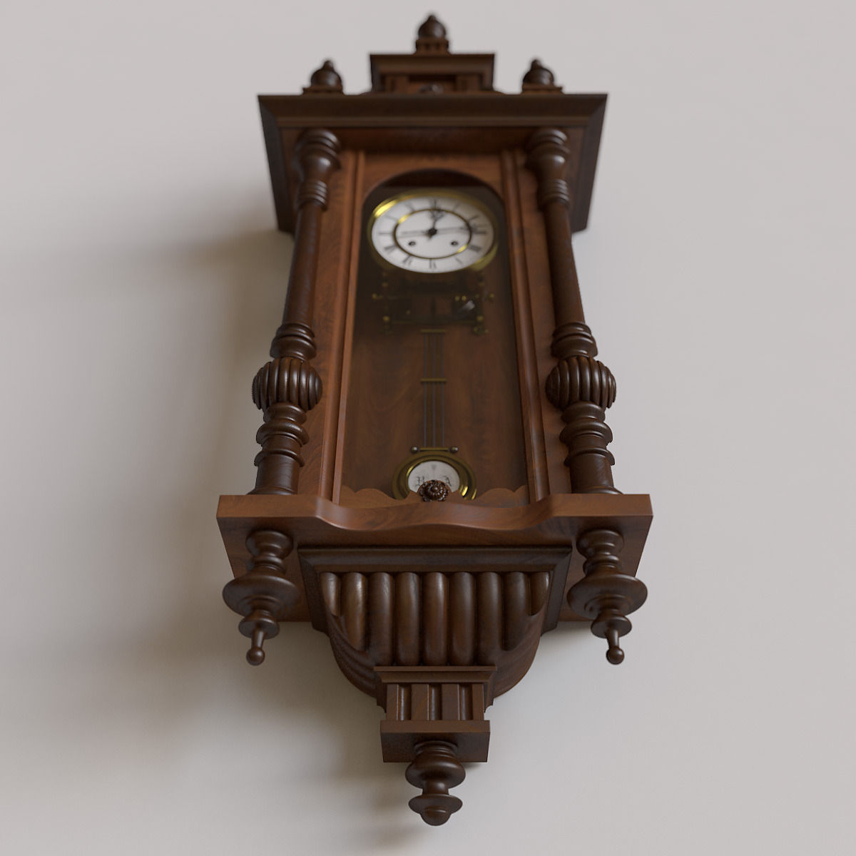 Antique pendulum wall clock 3d cgtrader antique pendulum wall clock 3d model max obj 4 amipublicfo Images