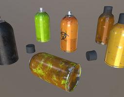 Aerosol spray cans 3D asset