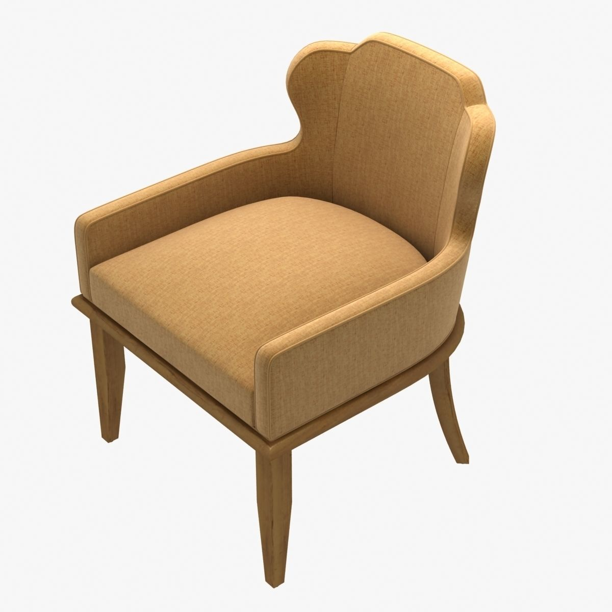 Beau ... Charter Furniture Halsey Occasional Lounge Chair 3d Model Max Obj 3ds  Fbx Stl Mtl 4 ...
