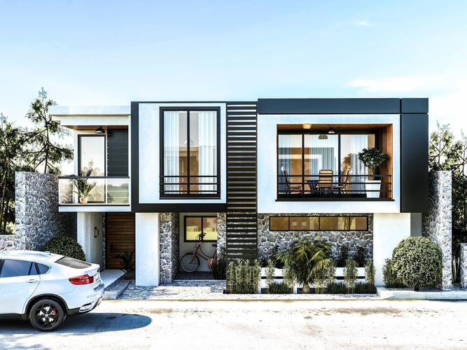 Exterior: Sketchup 2017 House Vray Scene Full Model Realtime