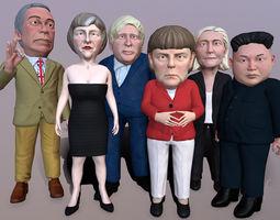 3D asset Political caricatures pack 2