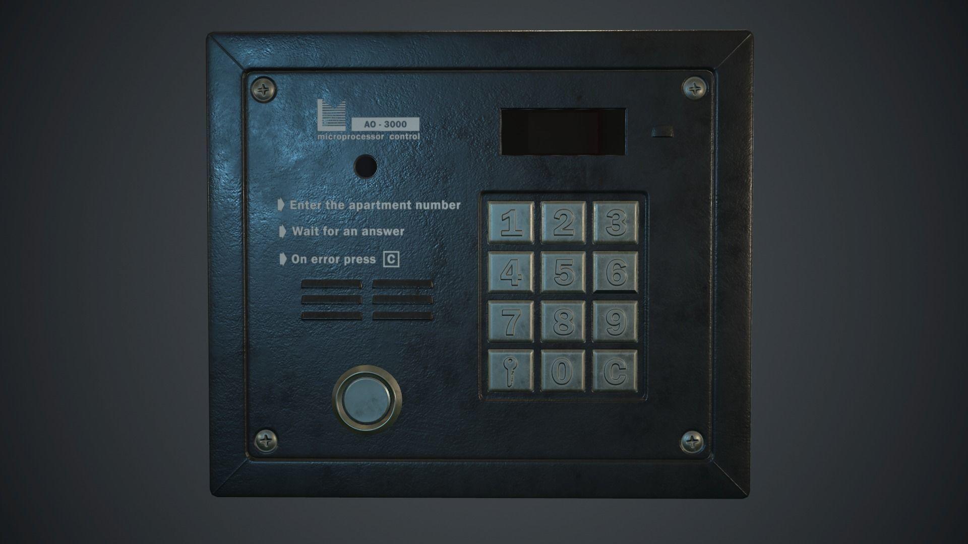 Intercom System PBR Game Ready | 3D model