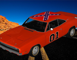 General Lee - Dukes of Hazard 3D model hazard