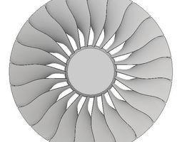 3D model GE90 Turbofan for CFD