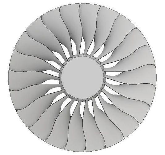 ge90 turbofan for cfd 3d model stp 1