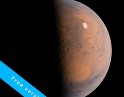 3D model Mars 2k textures -free version- photorealistic