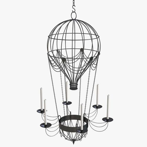 3d hot air balloon chandelier cgtrader hot air balloon chandelier 3d model mozeypictures Images