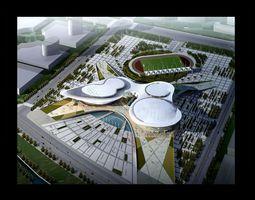 Grand Stadium 070 Olympic size 3D model
