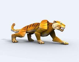 3D asset Origami Tiger