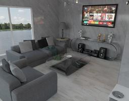 modern house 3D Living Room