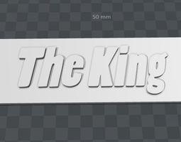3D printable model Plate-The King