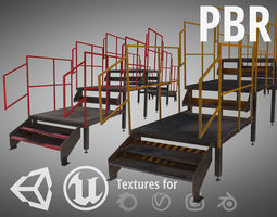 Metal Stairs 3D asset