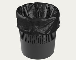 3D model Trash Can with Bag